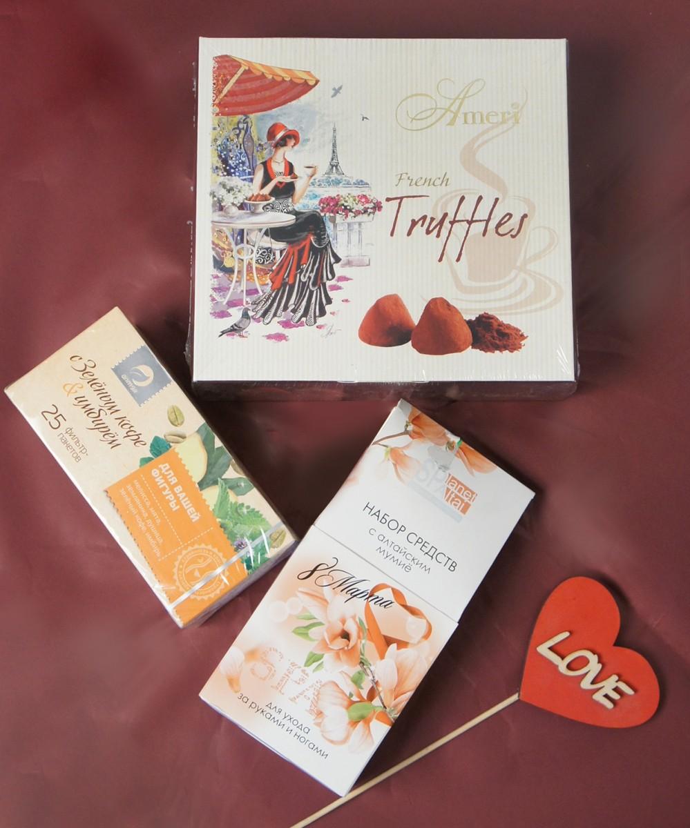 Шоколадные конфеты Амери+спа-набор. Чай в подарок!